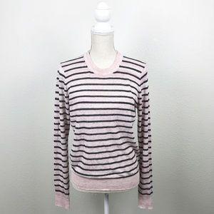 Veronica Beard Dean Sweater Striped Long Sleeve